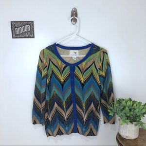ANTHROPOLOGIE Tabitha Chevron Cardigan